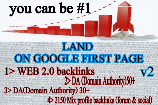 Land on 1st page of google with high DA web 2.0 backlinks