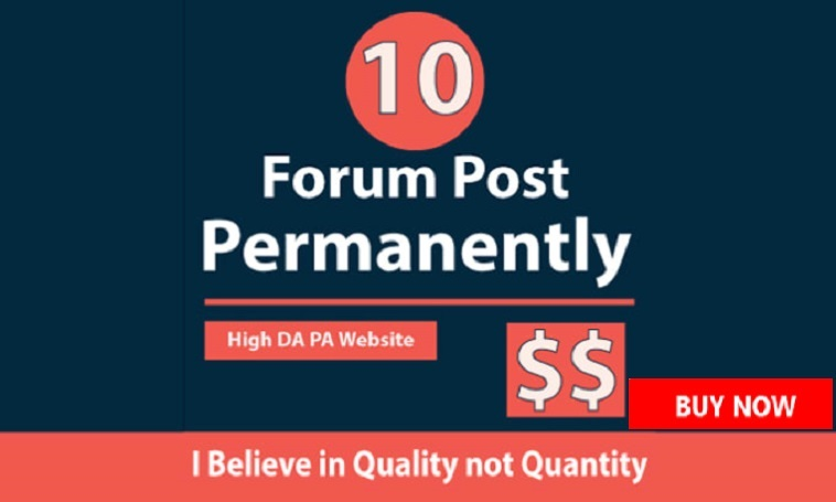 Add 10 Permanent Forum Posting Backlinks From PR9 To PR1 With DA-PA-TF 100 -30