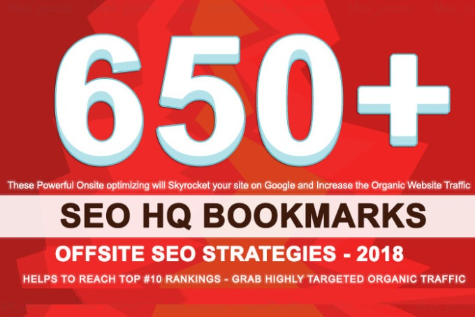 650 HQ Social Bookmarks Backlinks DA-PA-TF 100-80 for your Website,  Keyword and Youtube