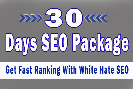 White Hate SEO package For 30 days with Daily Link building with PBN Web.2.0 Backlinks & Many More