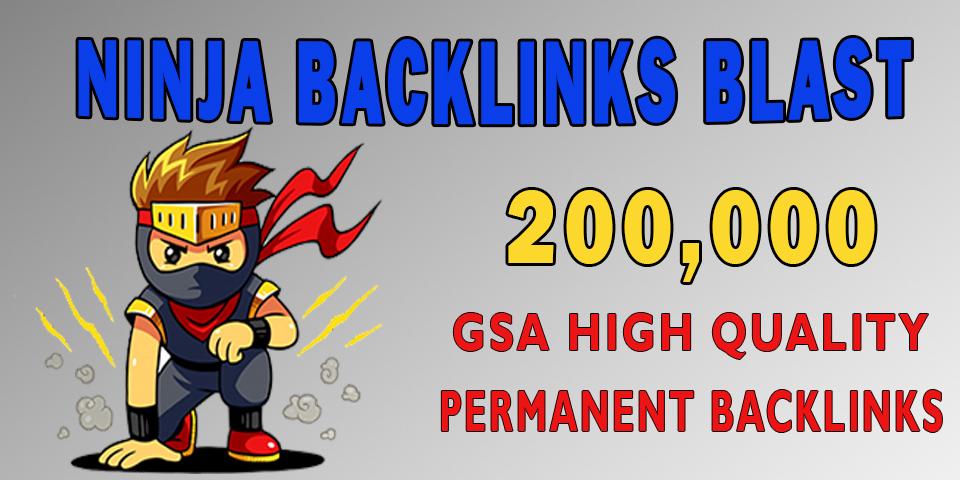 200,000 SEO Ninja Backlinks for Website Ranking