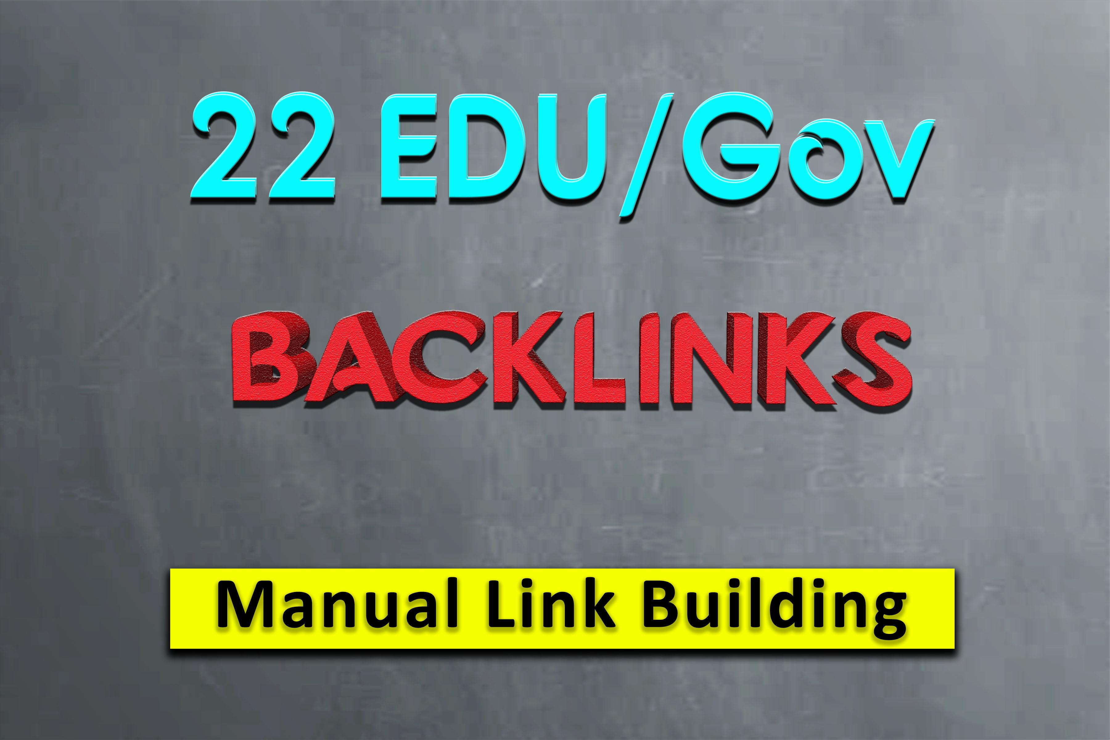 I will do 22 high quality Edu gov profile backlinks for high Google ranking