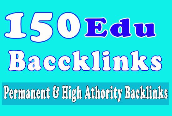 150 Edu Backlinks with high trust authority safe link building seo backlinks