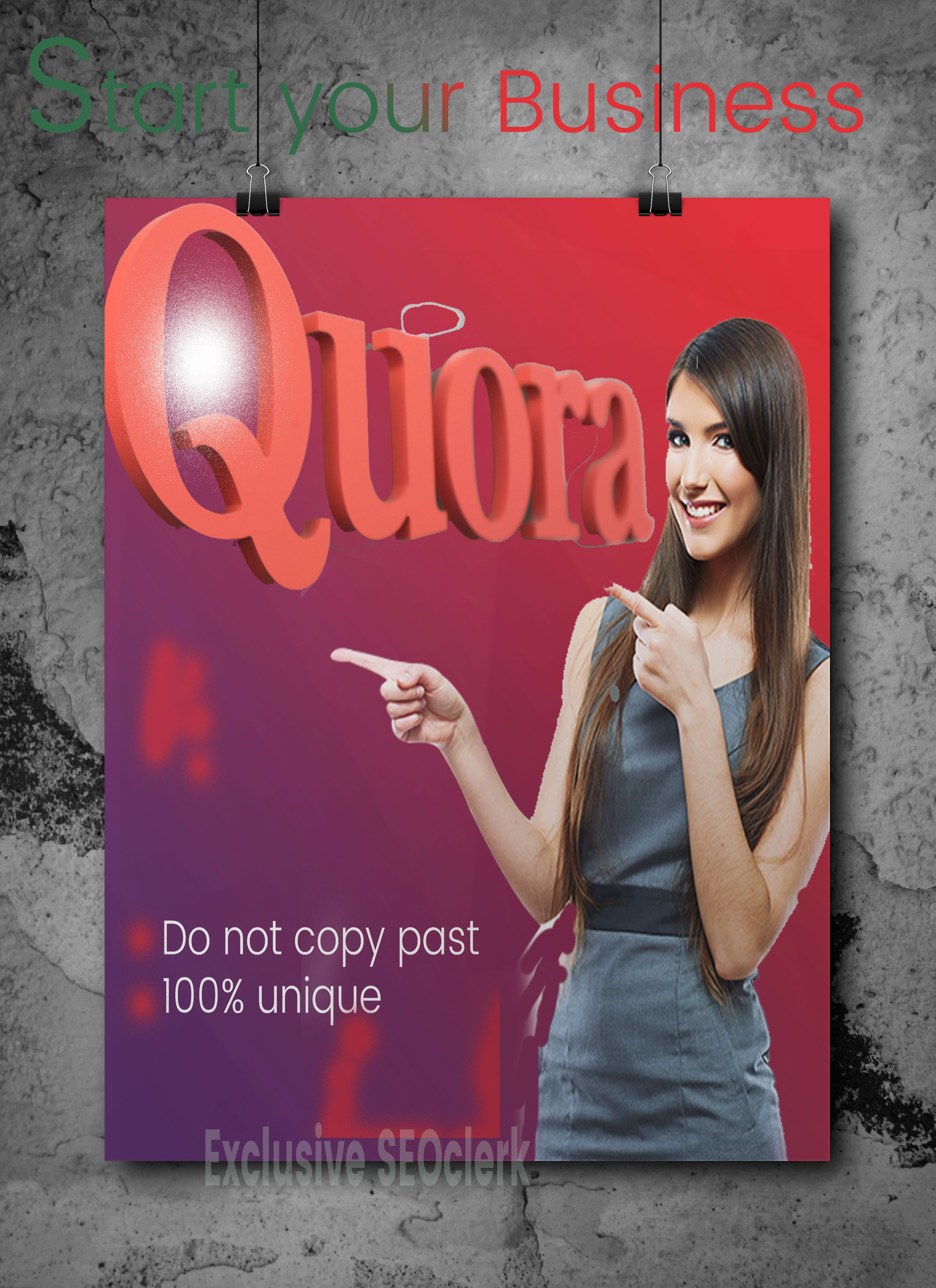 Guaranteed 15 HQ qoura with Upvotes promote your website.