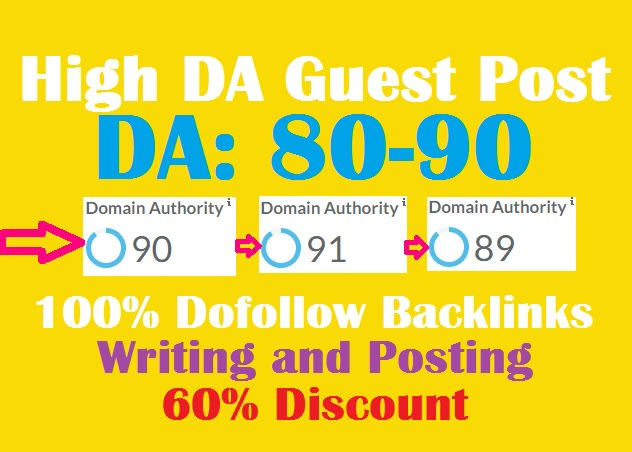 I will publish high da guest dofollow backlinks in 24 hours