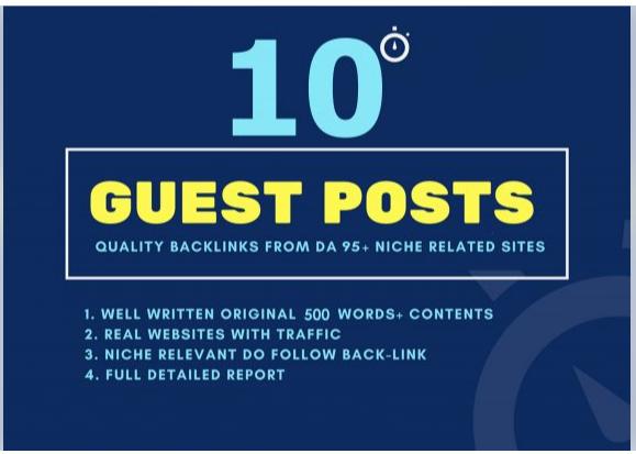Do 10 high authority dofollow guest backlinks Rank 1st