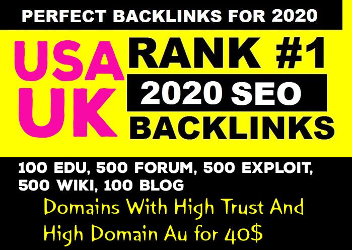 USA & UK 100 Edu, 500 Forum, 500 Exploit,  500 Wiki, 100 Blog Domains With High Trust And High Domain Au