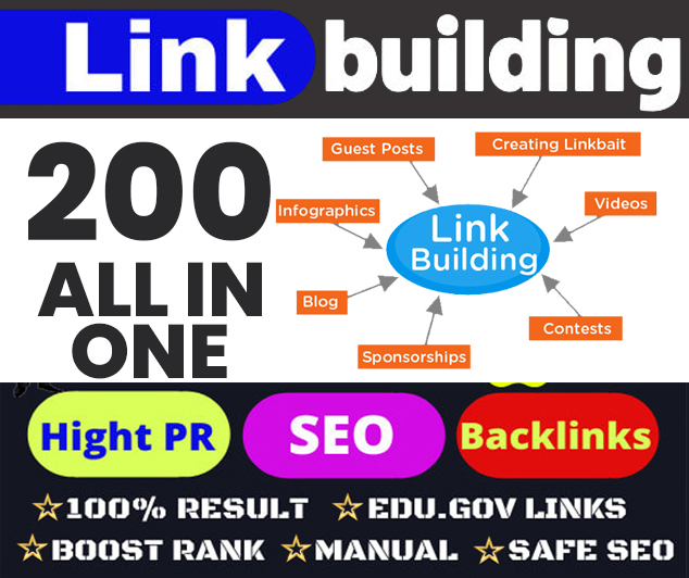 Build Up All In One 200 Manual SEO Link Building Package 2020