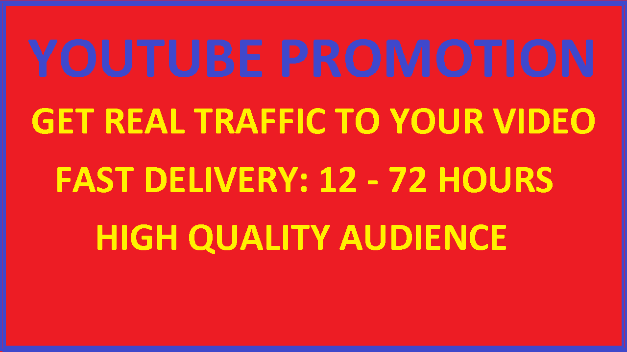 1000 youtube promotion traffic to your video video marketing