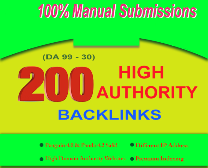 Rank Higher In Google With 100 High Domain Authority Seo Backlinks