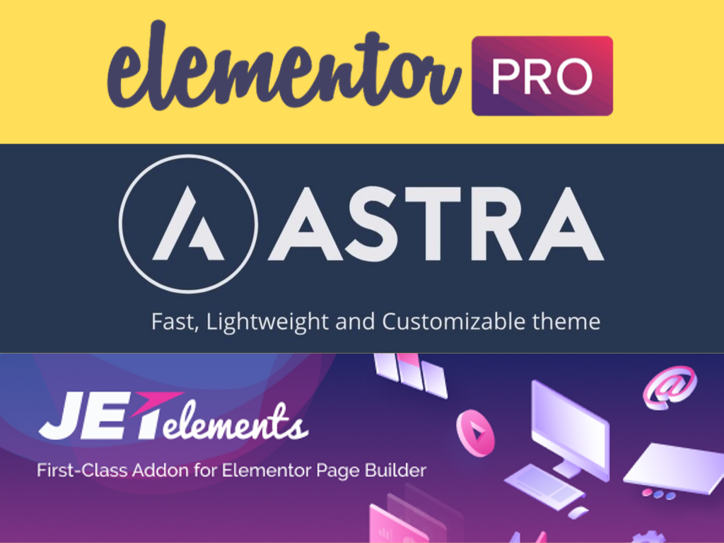 Install Astra pro with agency and Elementor pro