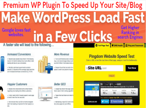 Get Premium WP Plugin to Speed Up Your Site or Blog -WP Rocket