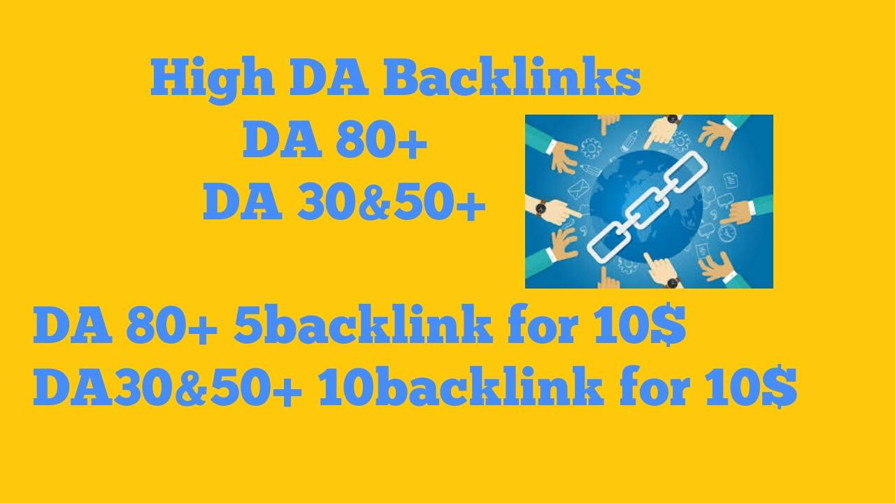 High DA Backlinks for cheap prices