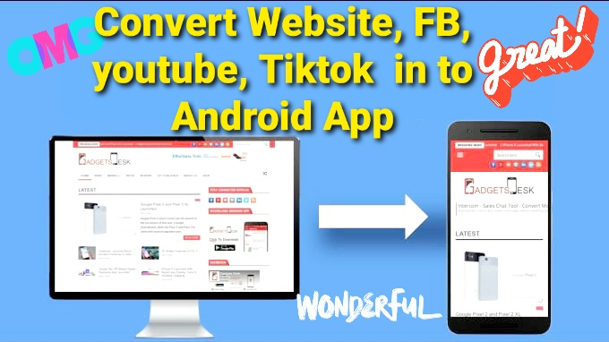 I will develop and create your FB,  Tiktok,  Youtube,  Referral Link ir any Website into a Mobile App