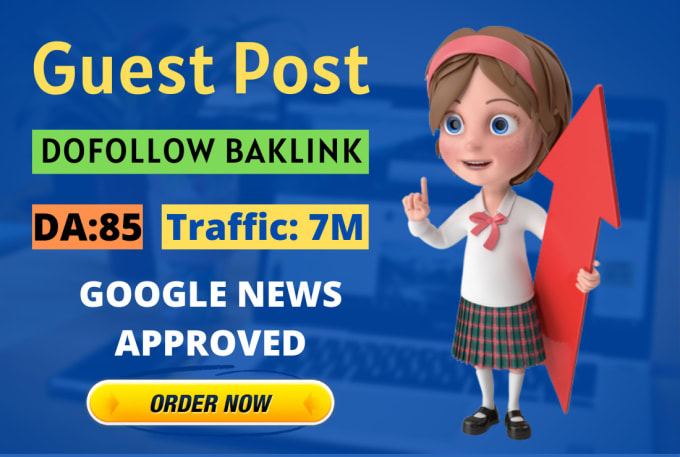 I will write SEO guest poste on my da 85 google news site with dofoollow backlink