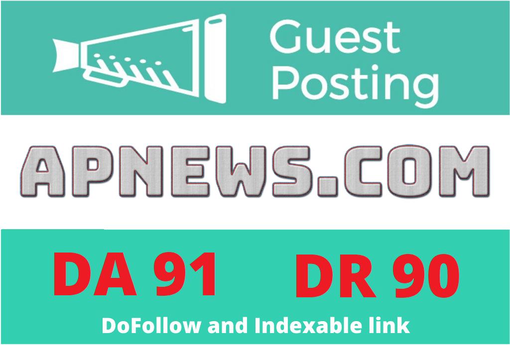 I will publish press release guest post on apnews. com DA91 permanent dofollow backlink