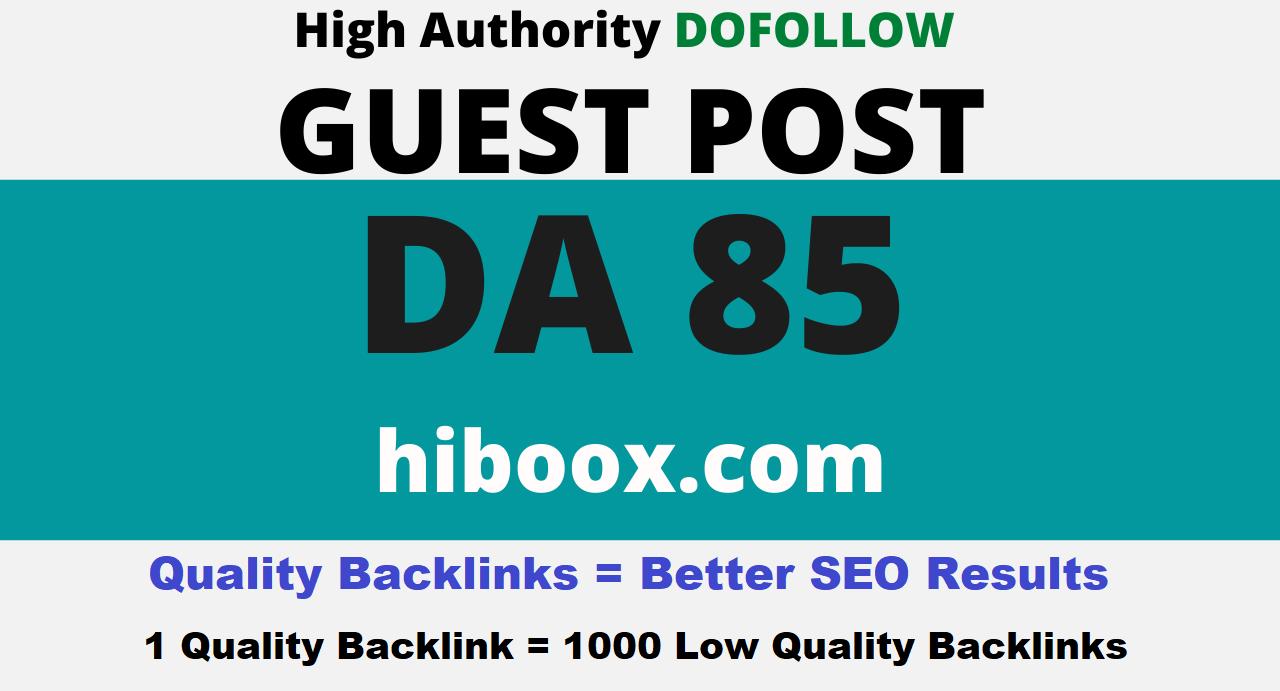 Publish Google News Approved Guest Post on Hiboox. com DA 85 Dofollow Link