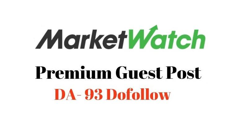 I Can Publish a press release on marketwatch. com DA 93 DF link