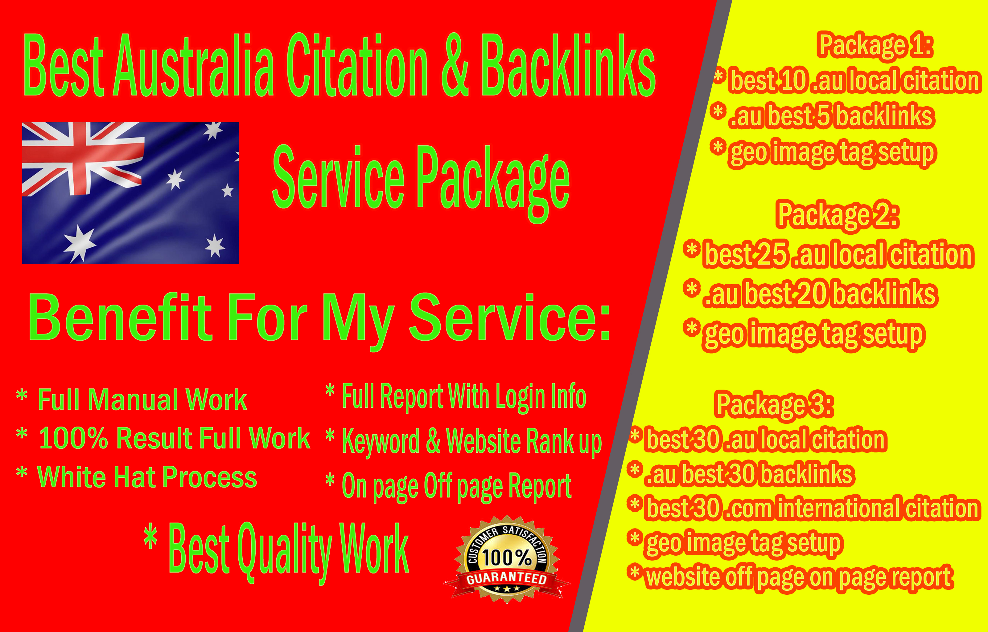 Best Australia Citation And Backlinks SEO service