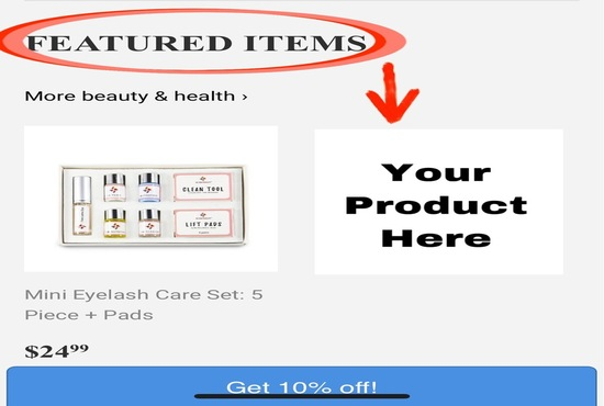 Advertise your product on fashion website