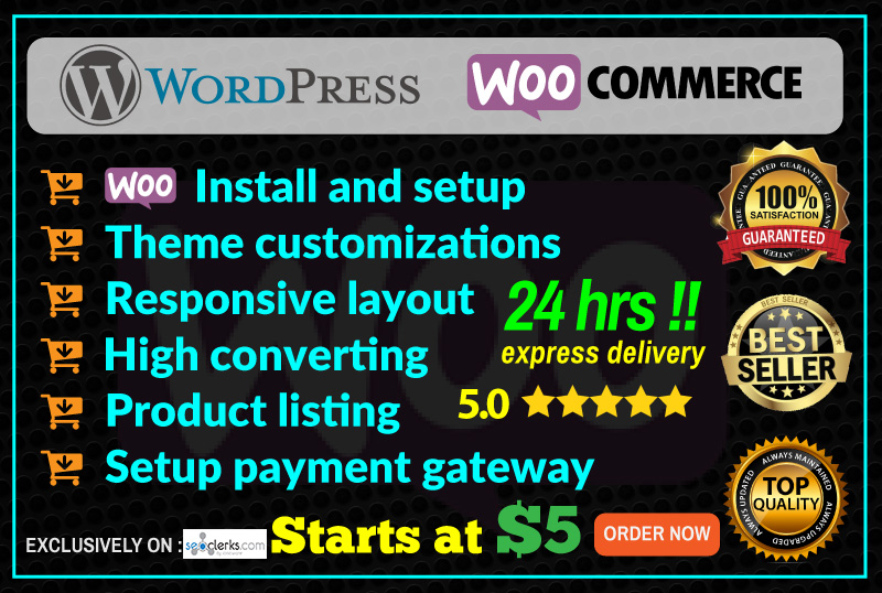 I Create And Develop Ecommerce Website Using Woocommerce