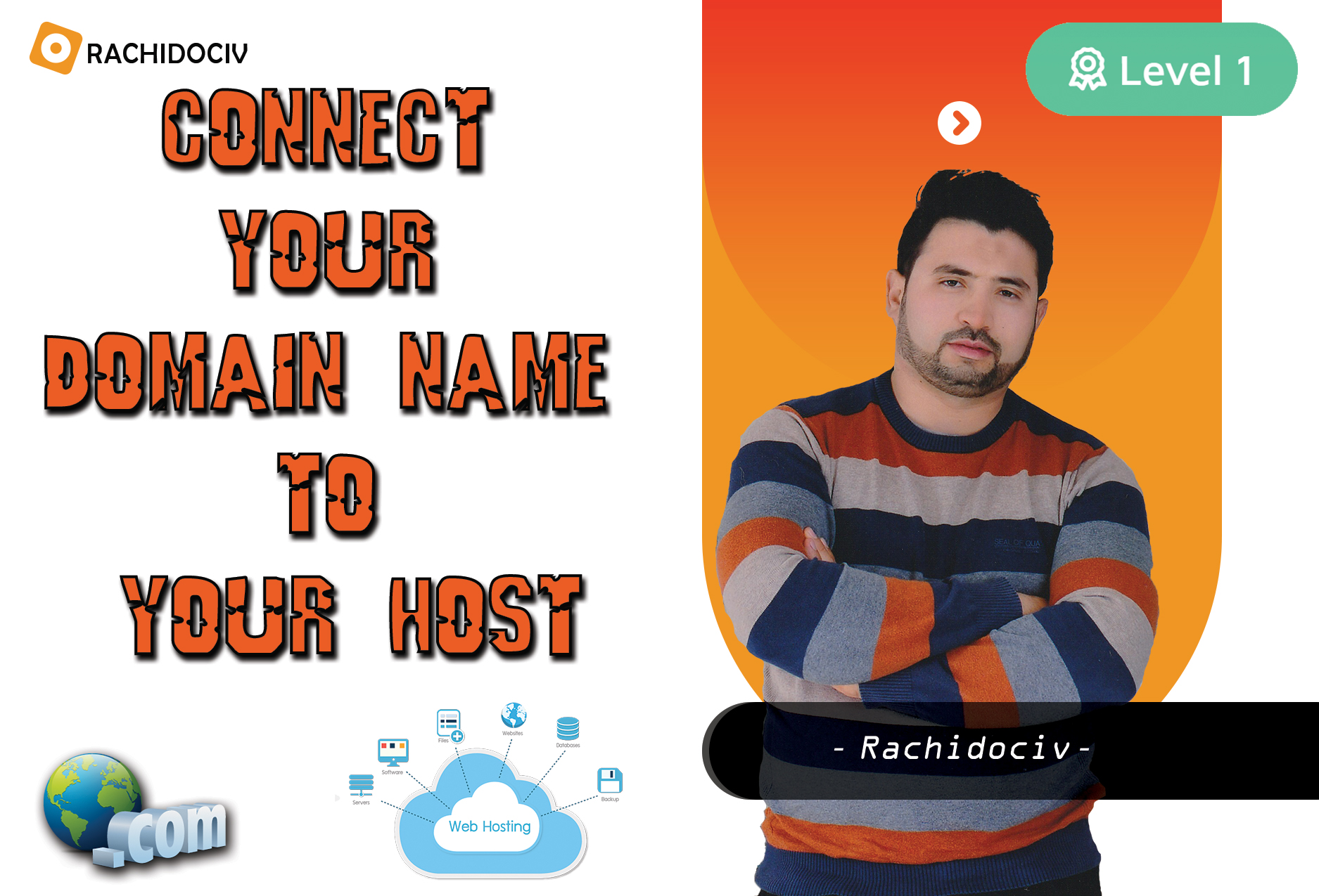 i will point your domaine name to your host account and fix your dns records
