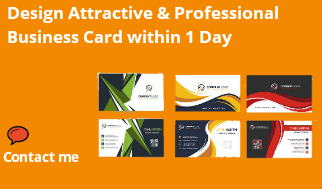 Design Professional Business Card,  Visiting Card within 1 Day
