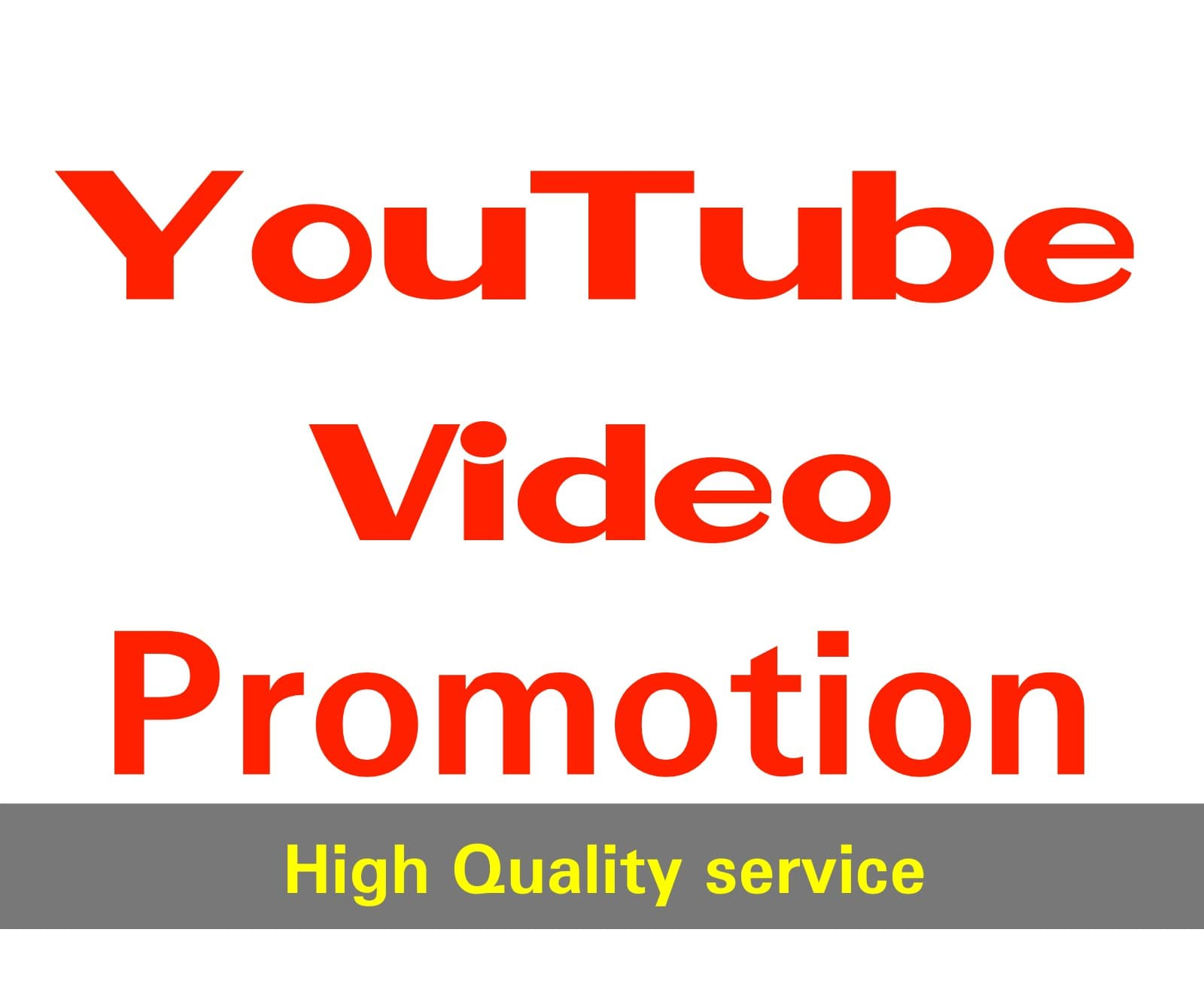 NON-DROP & HIGH QUALITY YOUTUBE PROMOTION firstly Delivery time