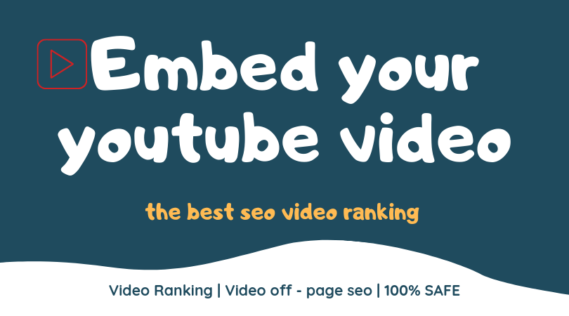 embed your youtube video in web20 blogs for best seo video ranking