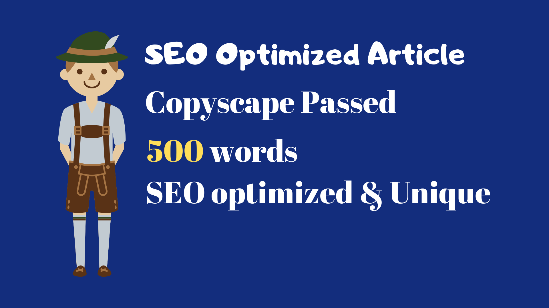 SEO optimized article writing in 24 hours