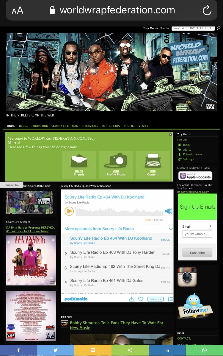 Music Press Release on WorldWrapFederation. com
