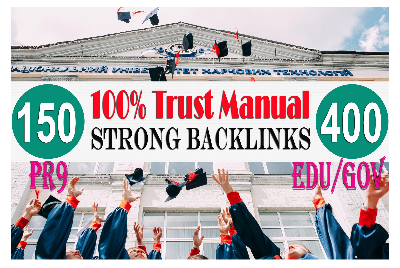 i will create 150 pr9 and 400 EDU GOV All Unique domains Backlinks