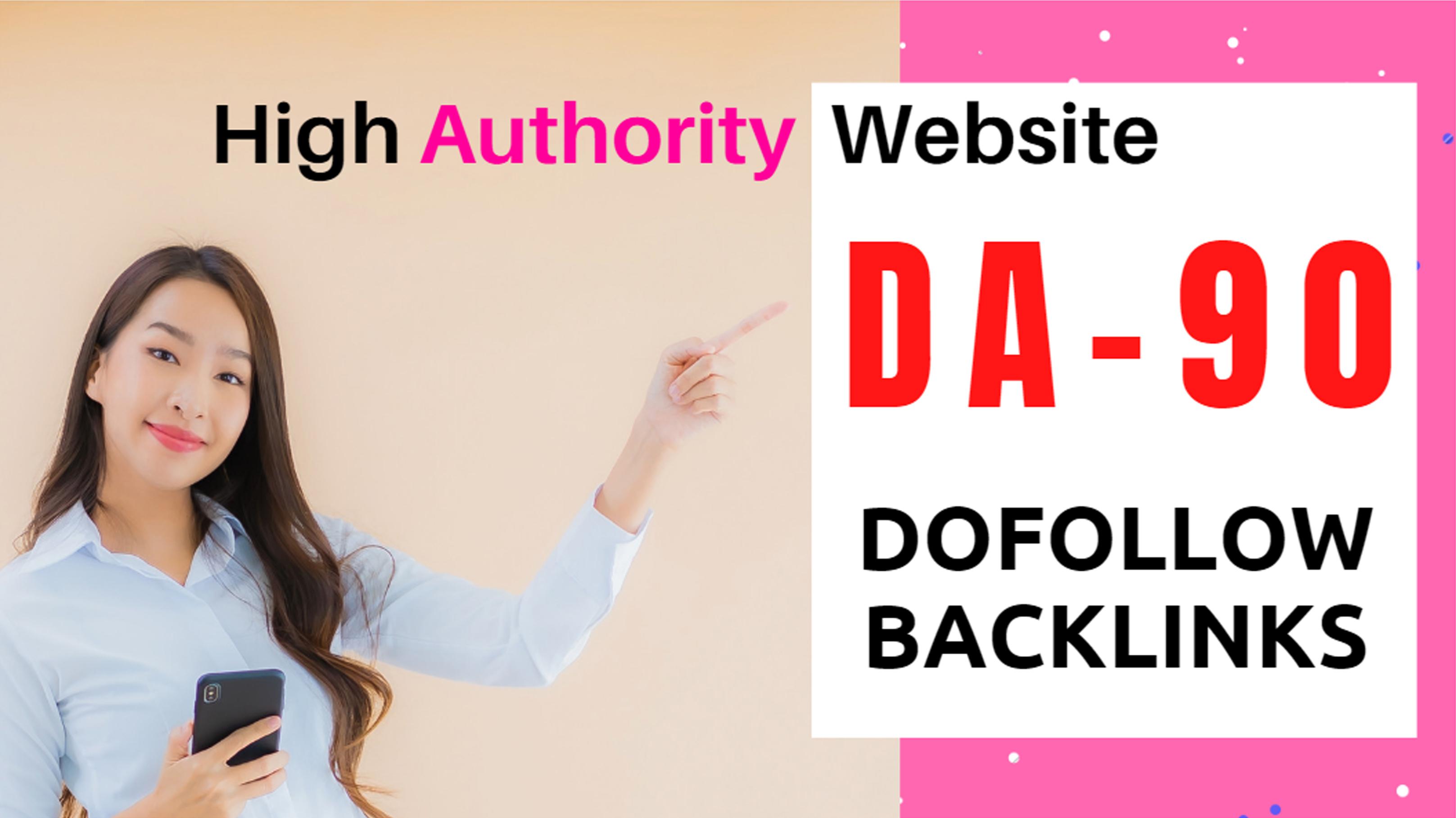 I will provide 200 high da-90 dofollow manually backlinks