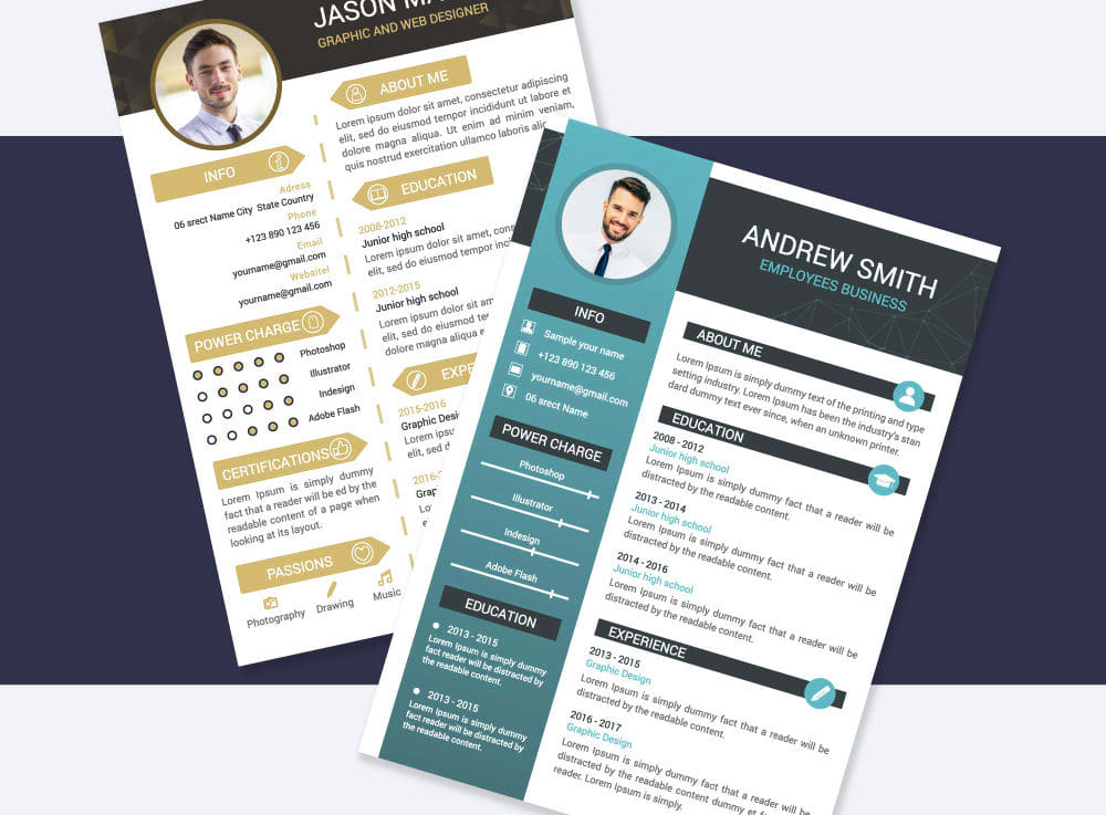 Make professional cv,  resume and portfolio design