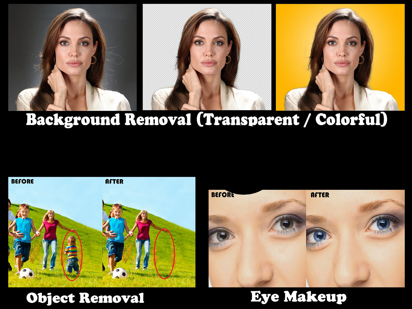 I will do professional image editing,  background removal,  object replacement and document editing