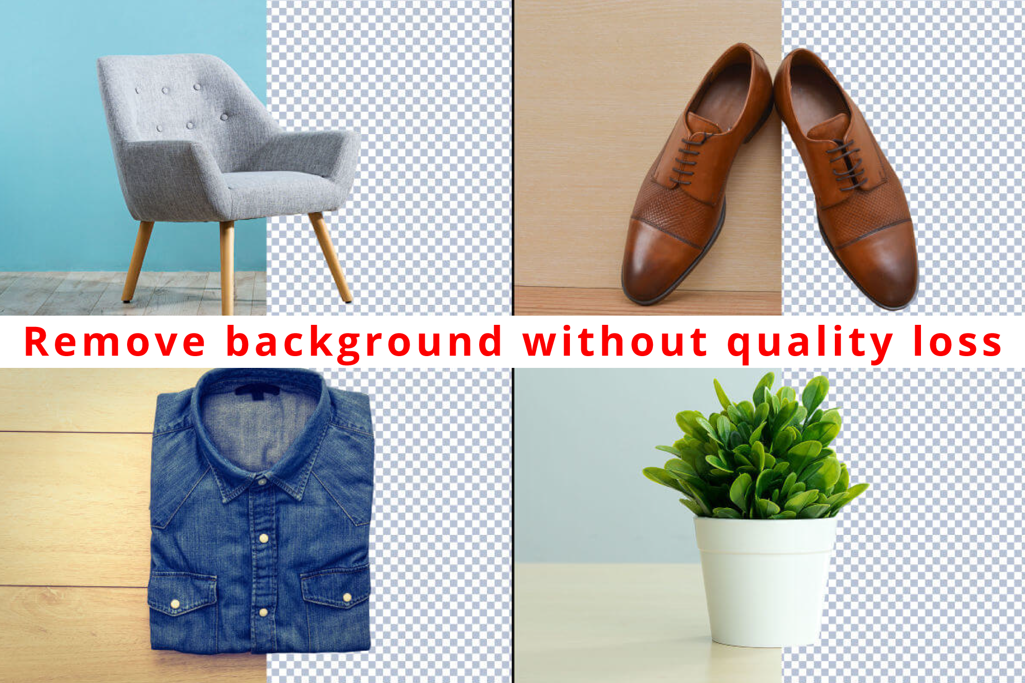 Remove image Background without any quality loss