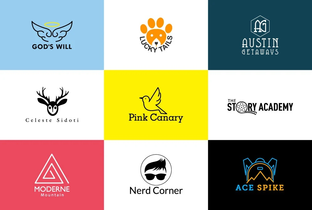 I will design cool flat minimal logo