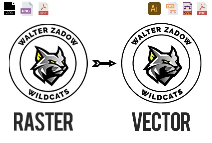 I will convert low quality logo image to vector ai, eps, png, psd in 2 hour