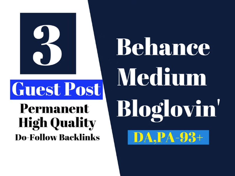 I will provide you 3 guest post