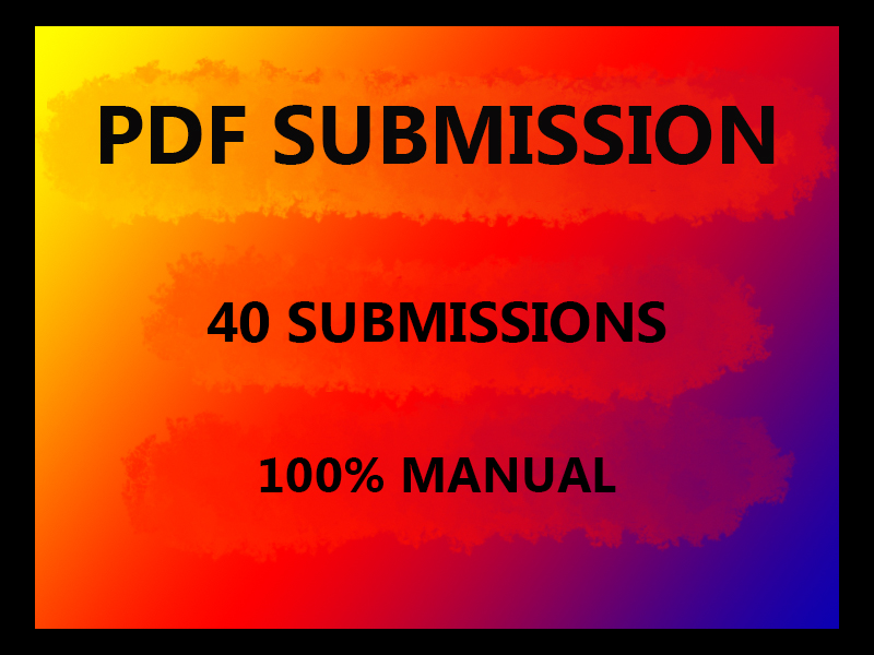I will do PDF submission on 40 sites
