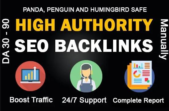 I will make whitehat SEO high authority dofollow 40 backlinks manually service