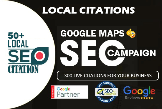 Create 50 Live Google Map Citations For Local SEO