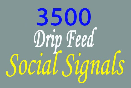 provide 3500 manually SEO social signals service