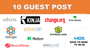 give you guest post on 10 high authority website DA 50 in cheap price