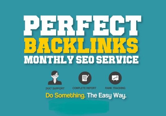 create high da authority whitehat backlinks,  monthly SEO service