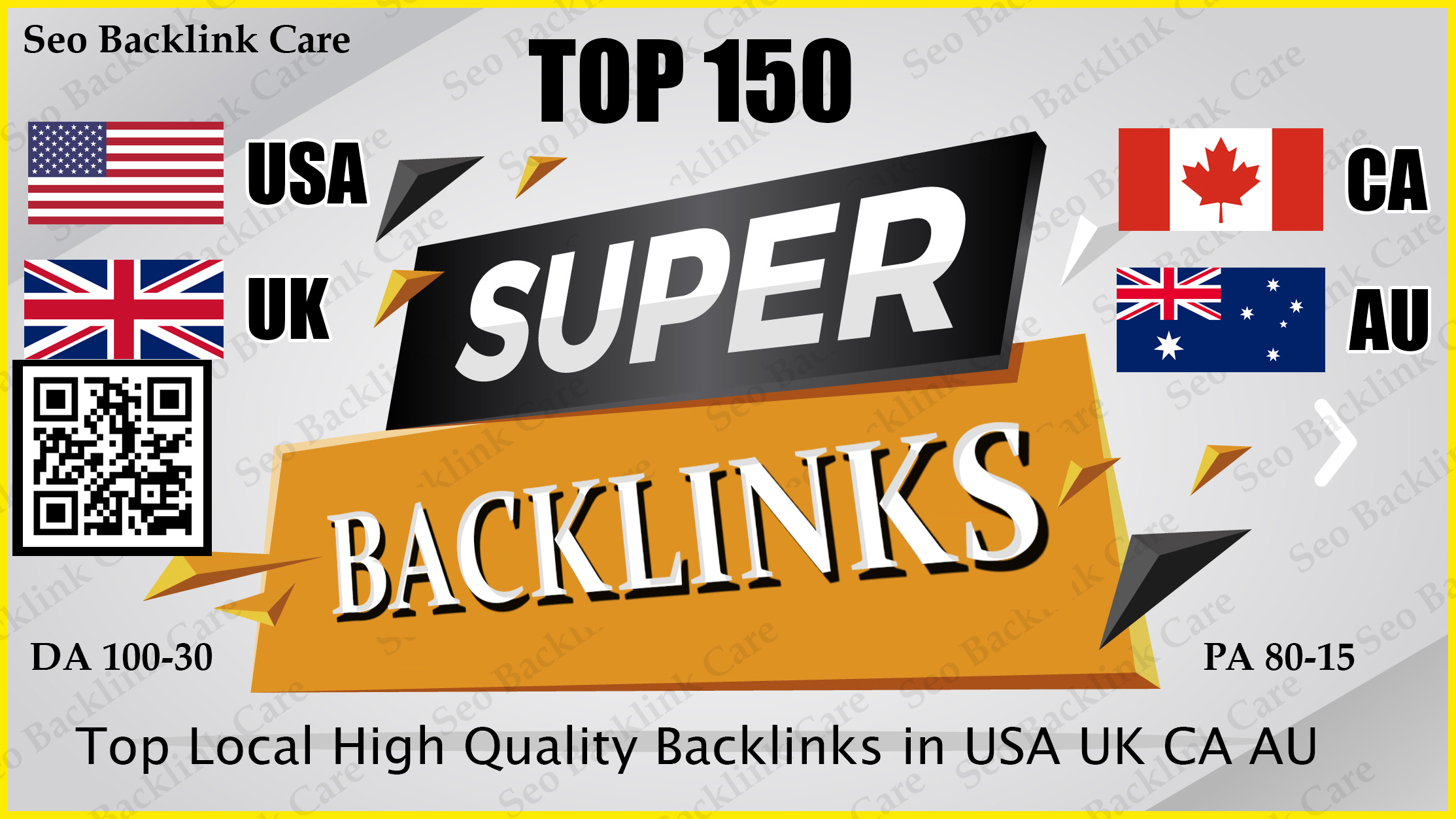 Top 150 USA UK CA AU Backlink SEO HQ Link Building Services for Google Ranking