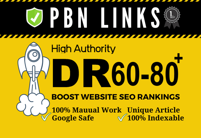 Kick Out Your Competitors- SEO Dofollow DR 60 to 80 high quality backlinks