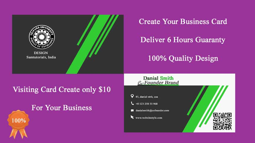 Create your Business card Quality Design