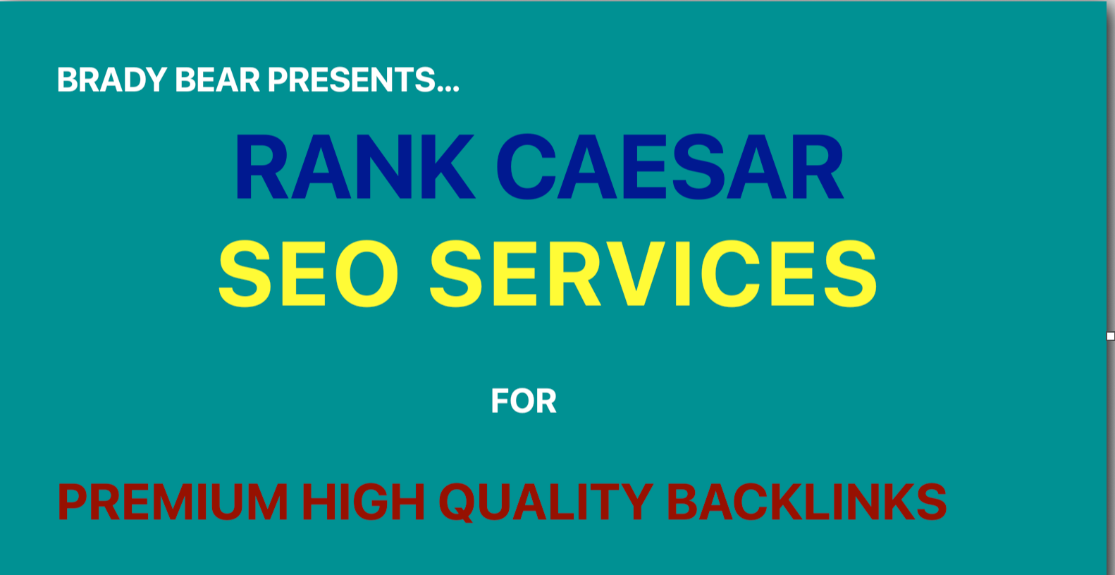 Flat 25 OFF on Rank Caesar SEO Services Offers Premium Backlinks for your website