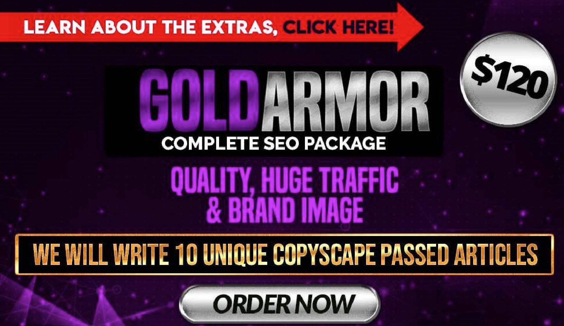 Custom offer for Uprank Gold Armor Complete SEO Package for Top Ranking
